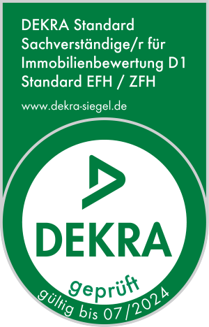 DEKRA geprüft - DEKRA Standard Sachverständiger für Immobilienbewertung D1 Statndard EFH ZFH